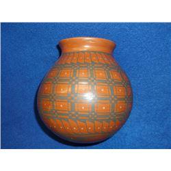 "Original Mata Ortiz Hand Made Pottery Signed By Luiz Bagarini- 6.5""H X 6""W"
