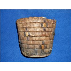 "Salish Basket- C. 1900- 7""H X 9""W"