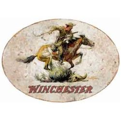 """WINCHESTER HORSE & RIDER SIGN-OVAL 18""""X11"""