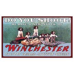 """WINCHESTER """"DO YOU SHOOT?"""" MAT 30""""X17.7"""""""