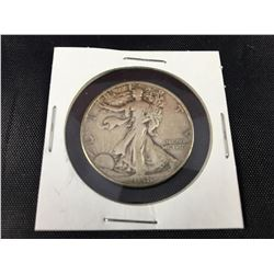 "1938 D US Silver Walking Liberty Half Dollar Coin ""Key Date"""
