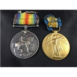 Pair of World War I Medals To: J.K. Kitching A.S.C.