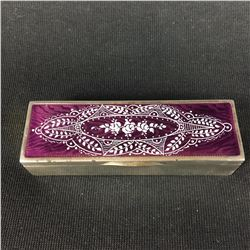 An Early 20thC European Silver and Enamel vanity Box