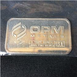USA 1oz .999+ Silver OPM Silver Bar