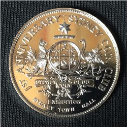1965 Silver Australian Medal commemorating Australian Coin Week and 1st Anniversary of Sydney Coin C