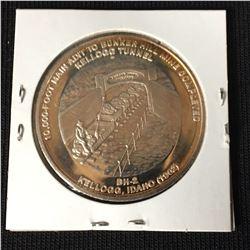 Rare 1981 Bunker Hill Company Silver Medallion .9995 Silver 1oz Round