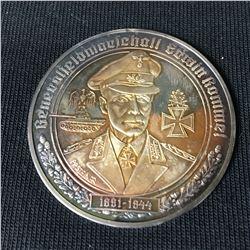 Rare Silver German Medallion General Field Marshal Erwin Rommel  - Christian Zentner Collection