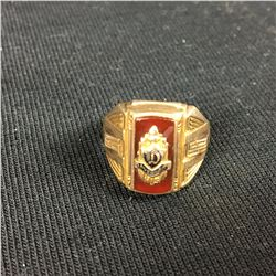 10ct Davenport Mens Gold Ring - Size 18 1/4 - 7.00 Grams