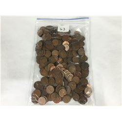 Large Bag of Unsorted Canadian 1 Cent Coins - Total Weight 960 grams