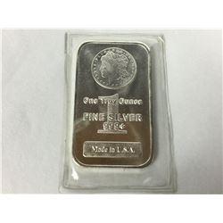 1oz .999 Fine Silver Morgan Design Pure Silver Bar