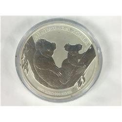 1 Kilogram .999 Perth Mint Australian Koala Silver Coin 2011