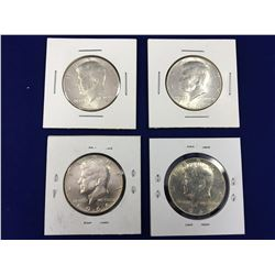 Group of Four USA Silver Half Dollars 1965-1969
