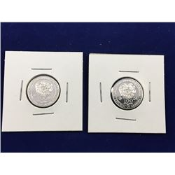 2 x 2012 Armenia 100 Dram 1/4oz Pure Silver Coins