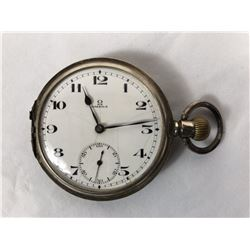 Antique Omega Pocket Watch with Sub Second Dial (Missing Front Cover) Stamped 935