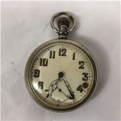 Antique Miner Pocket Watch Swiss Made 15 Jewels & Lever