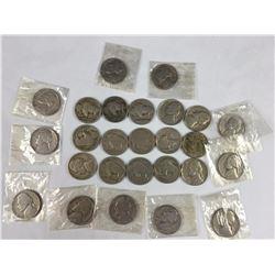 Group of Buffalo & Jefferson Nickels
