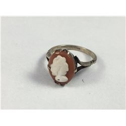 Sterling Silver Cameo Ring - ID 16.25mm