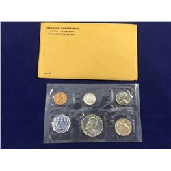 1960 US Proof Coin Set (In Original Packaging) Includes Silver Half Dollar, Silver Quarter & Silver