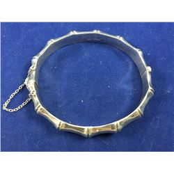 "Vintage Sterling Silver ""Bamboo"" Bangle - 54mm x 60mm ID"