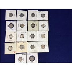 Group of Eighteen US Silver Mercury Dimes