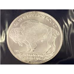 UNC American 1oz .999 Pure Fine Silver Buffalo Bullion Round Coin