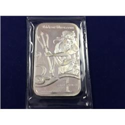 1oz .999 Fine Silver Trident Pure Silver Bar