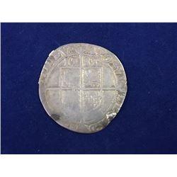 1583 House of Tudor Queen Elizabeth I - Large Hammered silver shilling