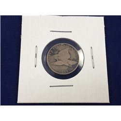 1857 USA Flying Eagle One Cent Coin