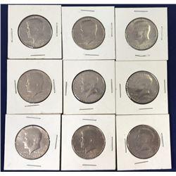 Group of 1776-1976 Kennedy Half Dollar Coins