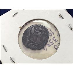100-97 BC Roman Coin - C. Egnatuleius C.f., Rome, 97 BC. AR Quinarius Laureate head of Apollo. R/ Vi