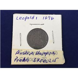 1696 Imperial Austria: Bohemia. Leopold I (1657-1705) Silver 3 Kreuzer Coin