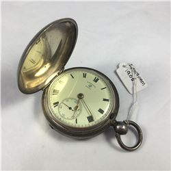 1906 Rotherham Sterling Silver Hunter Pocket Watch - Key Wind