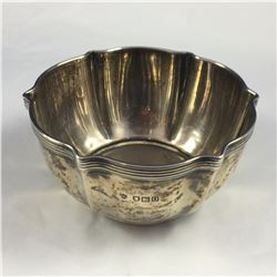 1909 Sterling Silver Christening Bowl - 55mm High x 110mm Across Top - Weight 116.50 Grams (Some Den