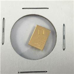 1 Gram Pamp .9999 Pure Gold bar in Plastic