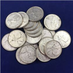 20 x Canadian Silver Quarter Dollar Coins