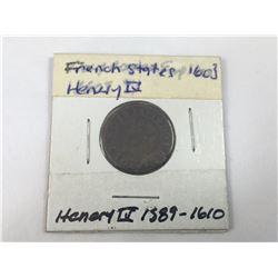 1603 France Double Tournois Henri IIII Coin