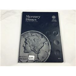 Album of US Silver Mercury Dimes Including 1921-D  - Total 65 Silver Coins