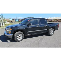 2007 GMC Canyon SLE Truck, Lic. 726TTT, 133,429 miles (Tailgate Does Not Open), Title is on order