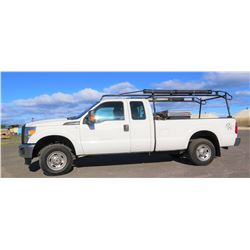 2015 Ford F250 4X4 Truck, Rack, Truck Box, Diesel Fuel Tank, Lic. 146TVN, 35,455 miles