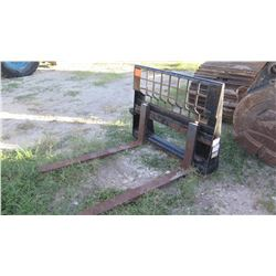 CAT 351-9371 Fork Attachment for Skid Steer