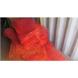 Pallet of Orange Safety Fencing Material