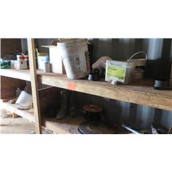 Contents of Shelving: Nails, Screws, Safety Tape, Fitting, Wire, etc.