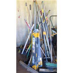 Misc. Brooms, Rakes, Shovels, etc.
