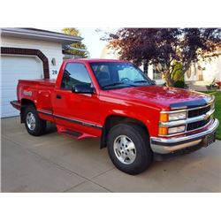 FRIDAY NIGHT! 1995 CHEVY STEPSIDE 4X4 1 OWNER BOUGHT NEW IN RED DEER