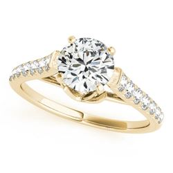 1.25 CTW Certified VS/SI Diamond Solitaire Ring 18K Yellow Gold - REF-206H4W - 27572