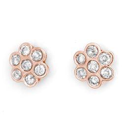 1.80 CTW Certified VS/SI Diamond Earrings 14K Rose Gold - REF-122X5T - 11276