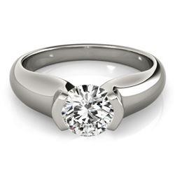 0.75 CTW Certified VS/SI Diamond Solitaire Ring 18K White Gold - REF-221F3M - 27801