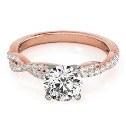 1 CTW Certified VS/SI Diamond Solitaire Wedding Ring 18K Rose Gold - REF-189X6T - 27847