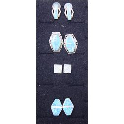 FOUR PAIR MEXICAN EARRINGS