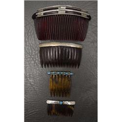 FOUR NAVAJO HAIR COMBS